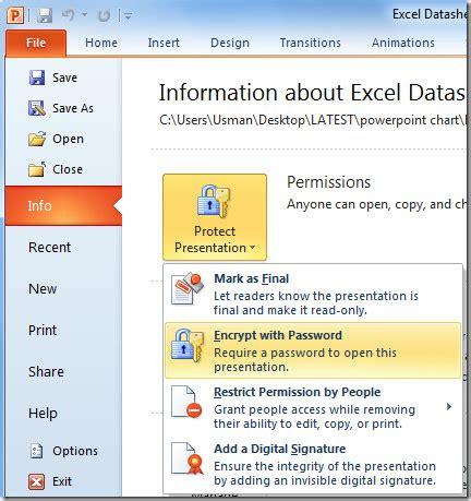 Encryption Tutorial Powerpoint Slides | password protect powerpoint 2010 presentation encryption
