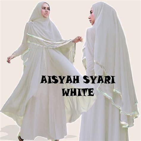 Gamis Aisyah Syar I gamis syar i modern aisyah white http warongmuslim
