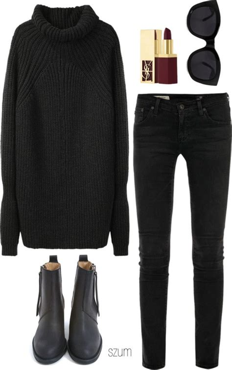 25 all black fall outfits that are anything but basic 23 cute polyvore outfits for fall winter polyvore