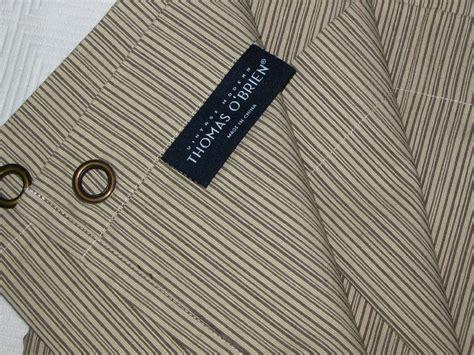 thomas o brien curtains thomas o brien textured stripe brown ivory neutral shower