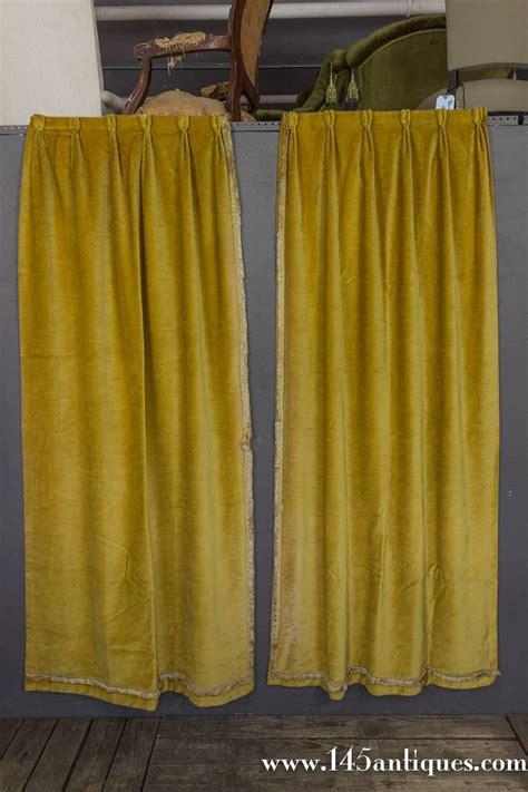velvet drapes sale pair of rich gold velvet drapes for sale at 1stdibs