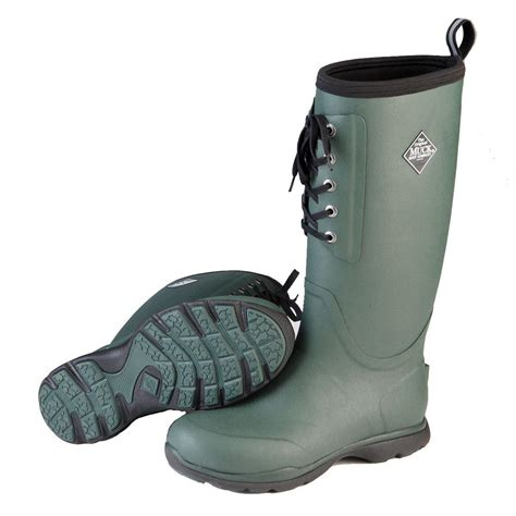 Insulated Rubber Boots by Muck Arctic Excursion Lace Waterproof Insulated