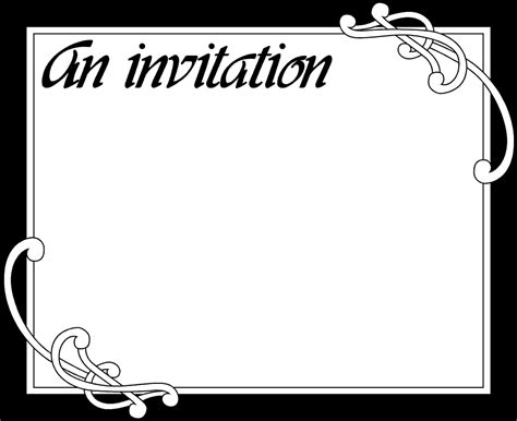 Blank Party Invitation Template Blank Invitation Templates