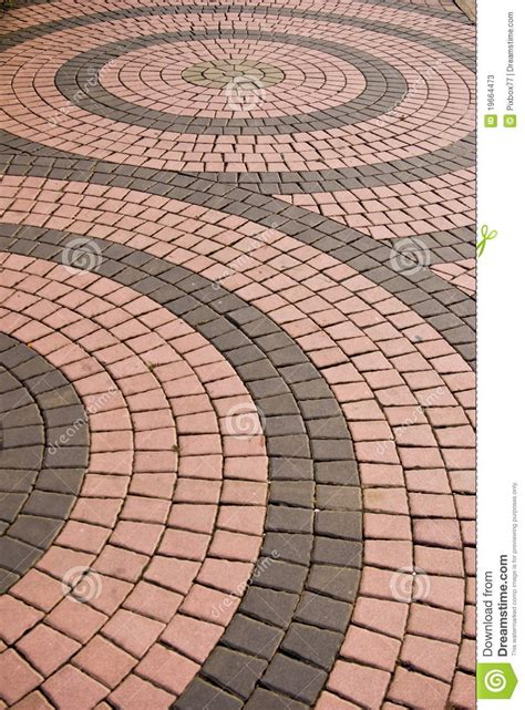 Tile Pattern On Walkway In The Park Stock Image   Image