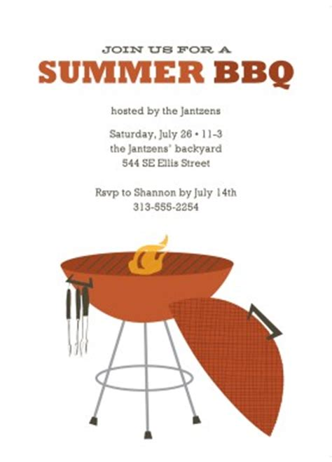 Printable Summer Backyard Bbq Invitation Template Summer Bbq Invite Template