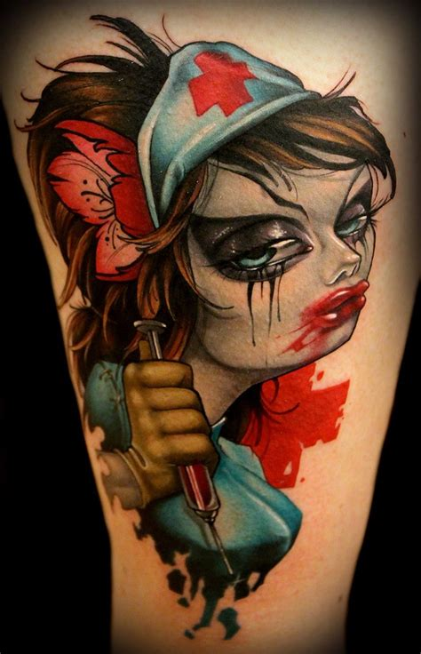 zombie nurse tattoo designs 20 best images about new school tattoos on