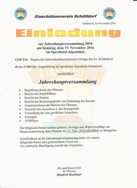 Muster Einladung Generalversammlung Stocksport Das Eisschie 223 En Im Pinzgau Einladungen Jhv