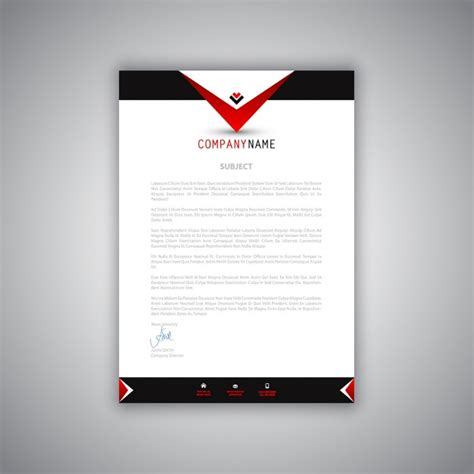 business letter design business letterhead with a modern design vector free