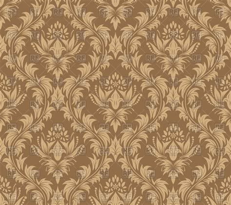 free brown background pattern damask seamless antique pattern brown wallpaper royalty