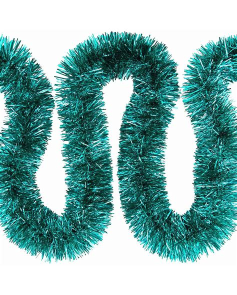 tinsel tinsel garland turquoise advent decoration