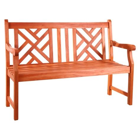 target outdoor bench vifah atlantic 2 seater outdoor bench brown target