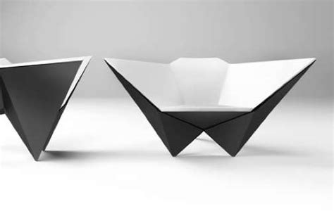 How To Make A Paper Chair origami inspired seating star chair by michael samoriz