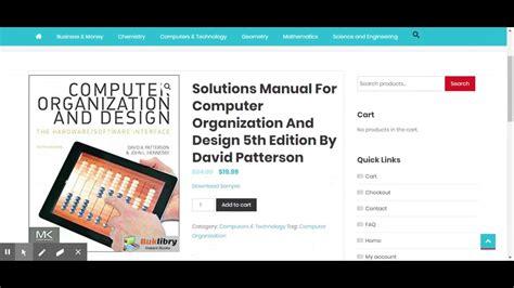 solutions manual  computer organization  design