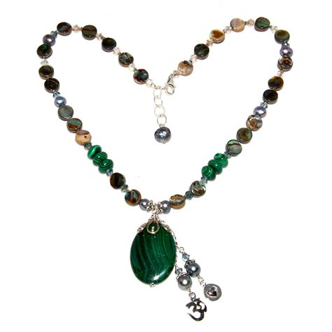 malachite and abalone necklace honoring the sacred