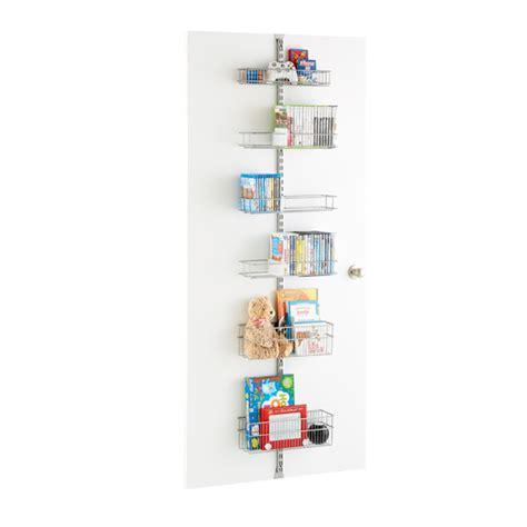 Elfa Wall Rack platinum elfa utility media room door wall rack solution