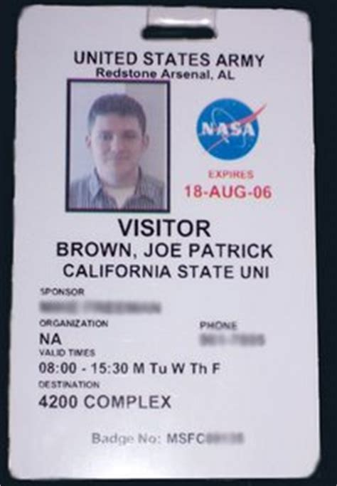 Nasa Id Card Template by Nasa Employee Badge Page 3 Pics About Space