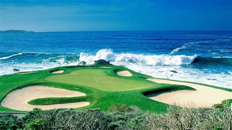 golf wallpaper for mac 1366x768 ocean golf course desktop pc and mac wallpaper