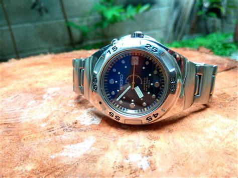 jual jam tangan bekas original seiko diver kinetic