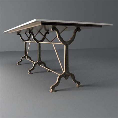 zinc top table restoration hardware restoration hardware factory zinc cast iron dining tables