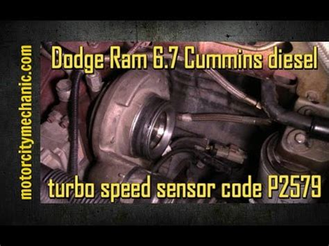 dodge ram  cummins diesel turbo speed sensor code p