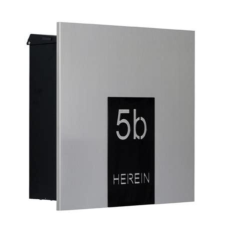 moderne briefkästen knobloch design briefkasten edelstahl como