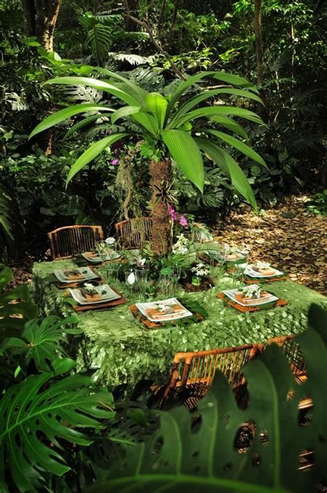 Wedding Reception Ideas: Tropical Rainforest   Receptions