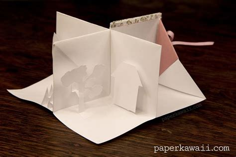 Book Origami Tutorial - origami popup book tutorial crafts miniature and