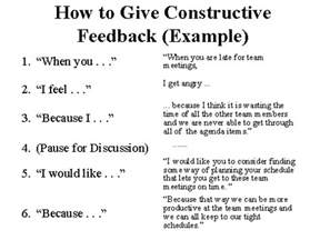 how to give constructive feedback (example) | teaching