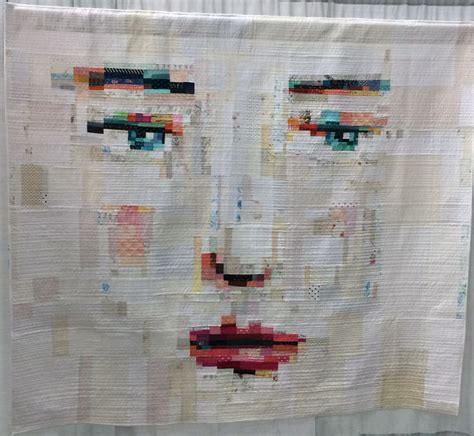 faces in fabric workshop with averinos draw collage stitch show books timing 171 modafabrics