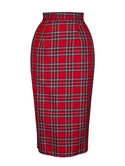pencil skirt tartan from vivien of holloway