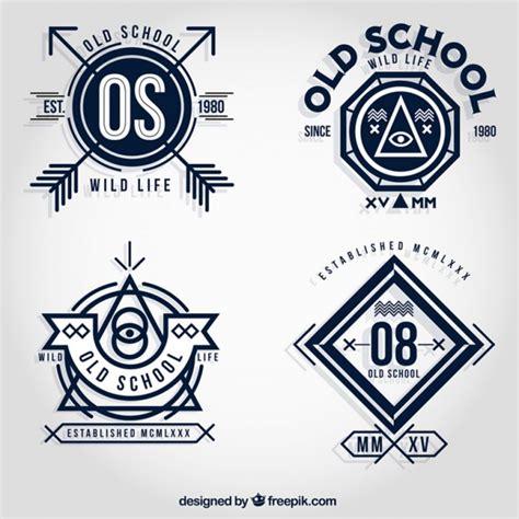 tattoo old school logo old school badges vector free download