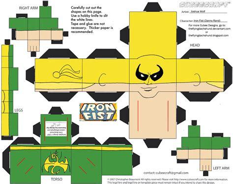 Iron Papercraft - marvel13 iron cubee by theflyingdachshund on deviantart