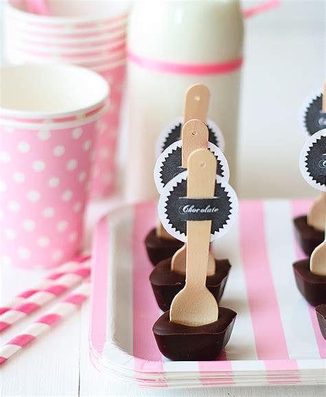la decoraci n de mis mesas diciembre 2013 ideas para fiestas cucharas con chocolate