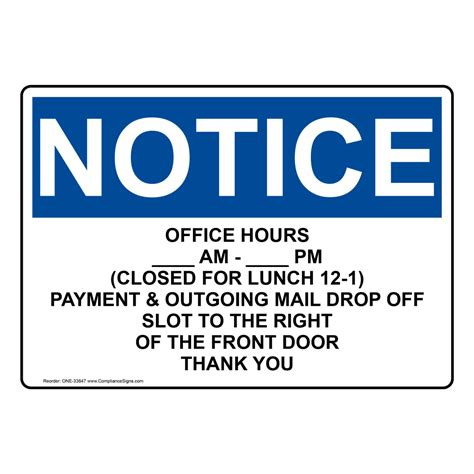 office closed sign welcome signs for office maintenance free poly