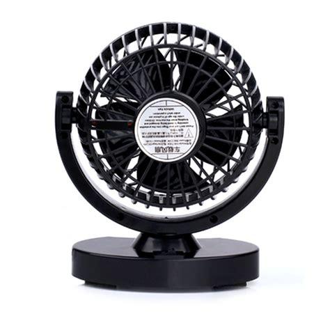 Kipas Fan Mobil huxin kipas mobil 360 degree mini electric car fan black