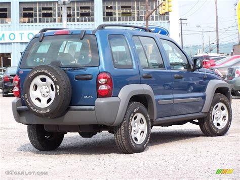navy blue jeep liberty 2006 atlantic blue pearl jeep liberty sport 4x4 11169733