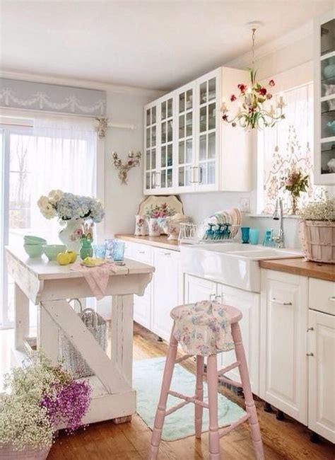 50 sweet shabby chic kitchen ideas 2018