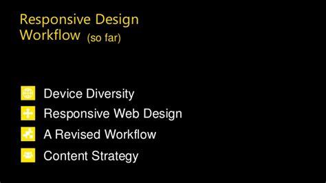 content strategy workflow responsive design workflow