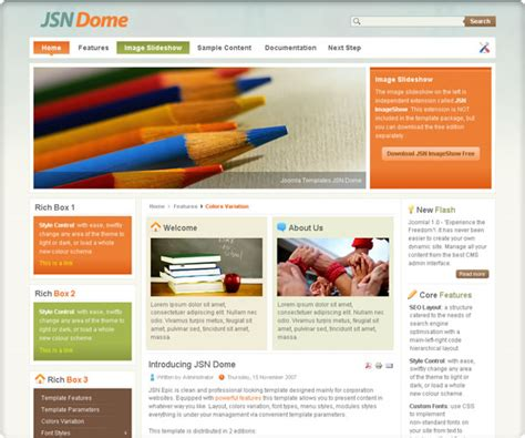 free joomla template 3 0 template jsn dome for joomla 2 5 and joomla 3 0 rizvn