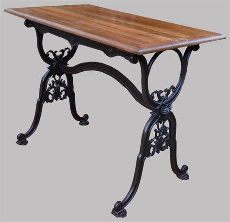 table en fonte bistrot table ancienne pied en fonte et plateau en ch 234 ne
