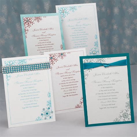 Wedding Invitations With Embelishments by Dress Up Your Wedding Invite Snowflake Sensation