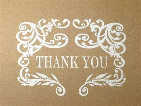 Handmade Wedding Thank You Cards - rustic wedding handmade thank you note card set embossed