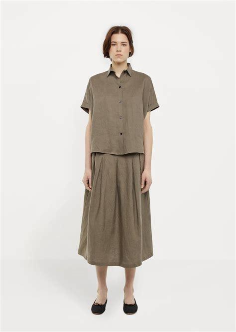 Blouse Bunga Jumbo Linen Ld 132 linen tuck skirt by la gar 231 onne moderne la gar 231 onne