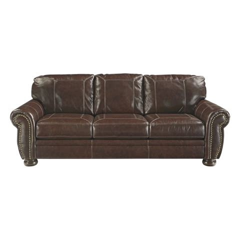 Ashley Banner Leather Sofa In Coffee 5040438 Coffee Leather Sofa