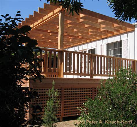 Los Angeles Deck Builder   Redwood Deck with Arbor & Under