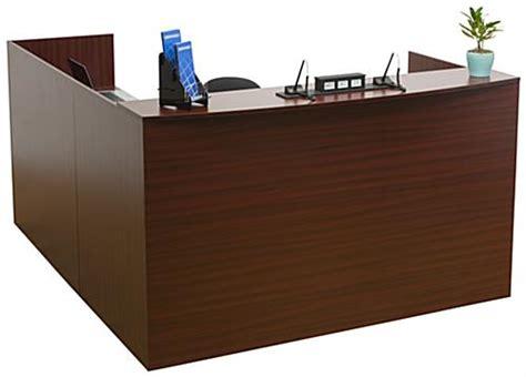 mahogany reception desk l shaped reception desk 4 mahogany drawers