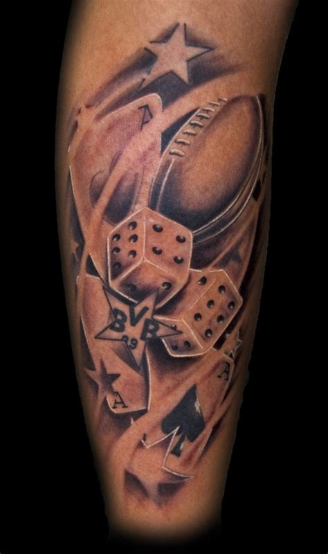 football tattoo football dices picture at checkoutmyink