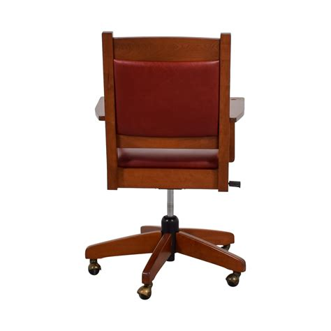 red leather desk chair 76 off stickley furniture stickley furniture red