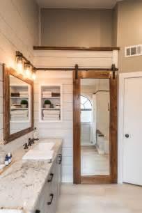 Pocket Door Bathroom Design Modern Farmhouse Bathroom Irwin Construction Denton Tx