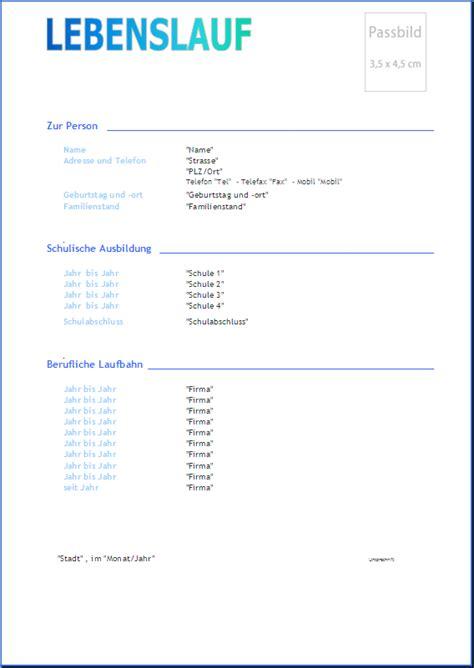 Einfacher Lebenslauf by Prawi Officewelt Produkte